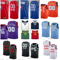 Custom Printed 2020All- StarJersey Jerseys Top Quality 2019 2...