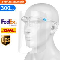 US Stock Nouveau masque de protection facial avec lunettes transparent Anti liquides Visage Bouclier anti-poussière Splash bouche visage clair Masque de protection
