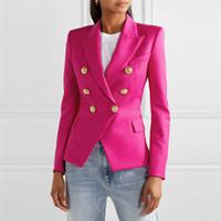 2020 Erken Bahar Kruvaze Moda Houndstooth Blazer Kadınlar Bayanlar Blazers Ceketler Chaqueta Oficina Mujer Blazer Feminino