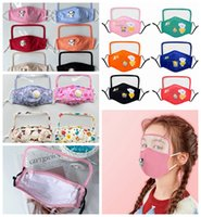 4 Styles Kid Face Mask With Breathing Valve Transparent Eye ...