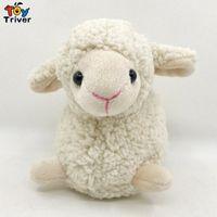 18cm Mini-Plüsch-Schaf-Spielzeug Triver Gefüllte Cartoons Lamm Hammel Alpaka-Puppen-Baby-Kind-Kind-Kawaii Geburtstags-Geschenk-Hauptdekor cs3W #