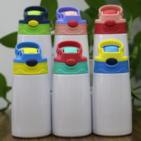 Sublimation Sippy Cup 12oz 350ml Blank Kids bottle Cute Double-Wall Stainless Steel Tumbler Water Mugs in Bulk Safe for Kid Toddler Container Wholesale
