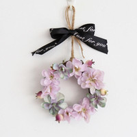 Mini Artificial Hydrangea Flower Wreath Door Spring For Fron...