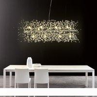 현대 G9 LED 샹들리에 아크릴 실 lampadario 모데 르노 광택의 hanglamp 조명을 거실 식당에 대한 펜던트 램프를 점등