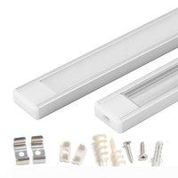 striscia 1m 1.5m 2m profilo alluminio led per 5050 5630 ha condotto la barra chiara canale alluminio vano led bar con clip cappuccio terminale copertura