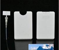 추진 빈 20ml의 플라스틱 블랙 신용 카드 모양의 포켓 향수 병 여성 화장품 컨테이너 작은 포장 스프레이