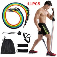 11pcs / set Pull Rope Fitness-Übungen Widerstand-Bänder Latex Tubes Yoga-Training Workout Elastic-Widerstand-Bänder CCA12315 50sets