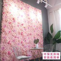Yapay Çiçek Duvarı 60 * 40 cm Gül Ortanca Çiçek Arka Plan Düğün Çiçekleri Ev Partisi Düğün Dekorasyon Aksesuarları