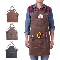 A008 Craftsmen Waterproof Oil Waxed Canvas Welding Apron Can...