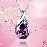 2018 New Design, Angel Tears Amythest Purple Crystal Pendant...