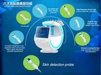 الذكية الجليد الأزرق 7 في 1 هيدرا الجلد الغسيل الحيوي رذاذ بندقية أكوا قشر الموجات فوق الصوتية مع محلل الجلد آلة الوجه 2068