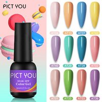 PICT YOU 8ML vernice ibrida Macaron gel Nail Polish semi permanente del design Top Base Per Soak Off Gel Nails Art Vernice