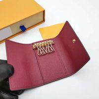 Yüksek Kaliteli Yeni Kadın Erkek Klasik 6 Anahtar Tutucu Kapak Anahtarlık Erkekler Box.Dust Çanta Kart Anahtarlık A3