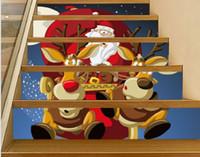 2020 Slt022 nueva Navidad ciervos coche pegatinas de escalera 3D pasos decorativos adhesivos para los adhesivos de pared adhesivo de tierra y auto
