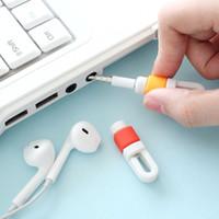 1000PCS / الكثير جديد سيليكون الكابل الرقمية حامي الحبل Protecotor واقية الأكمام كابل USB غطاء اللفاف عن اي فون سامسونج سماعة الحبل
