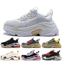 أبيض أسود الثلاثي الصورة رجل إمرأة مصمم الأحذية عارضة الفاخرة باريس 17FW الأحذية خمر أبي النجم 2020 الأزياء أحذية رياضية منصة tripler