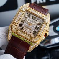 TWF V12 WGSA0029 WGSA0027 Gypsophila Diamonds Diams Giappone Miyota 8215 Automatic Mens Watch Iced Out Full Diamond Inlay Orologi in pelle