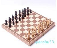 الجملة خشبية قابلة للطي الدولية للشطرنج مجموعة قطع تعيين مجلس ادارة لعبة مضحكة لعبة أحجار شطرنج مجموعة محمولة لعبة المجلس