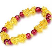 Hersteller Großhandel Obsidian Männer und Frauen Armbänder Männer und Frauen vergoldet xiu Armband heiße Art Geschenk Geschenke