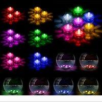 أضواء تحت الماء LED أضواء الشموع غاطسة الشاي الشاي الخفيف للماء شمعة تحت الماء ضوء الفرعية أضواء بطارية مضادة للماء ليلة الخفيفة