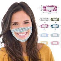 Adulte Enfants Coton Designer Masque de protection avec les yeux amovible Bouclier anti-poussière lavable Masques bouche avec fenêtre transparente Mascarillas
