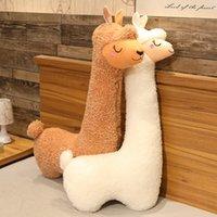 2020 جديد العشب الطين الحصان alpaca دمية أفخم لعبة السرير وسادة خليج نافذة صورة دمية وسادة مهدئة الأطفال هدية الاتجاه والأزياء