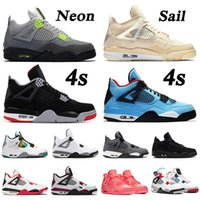 2019 cool grey 4s nike air jordan 4 retro 4 Jumpman New Bred Cool Grey 4s Travis Scott x 4 Cactus Jack IV NEON Purple Raptors FIBA ​​Scarpe da uomo Sneakers da donna 5-13