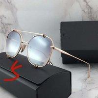 metales clásicos retro damas gafas de sol deportivas de los hombres de los vidrios TALON dos vasos de conducción femenina gafas de moda de gama alta marco redondo conjunto completo c