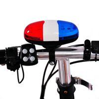 Bicicletta Bell 6 LED 4 Tone corno della bicicletta bici di chiamata LED Bike Police Light elettronici sonori sirena Bambino Accessori del motorino della bici MTB