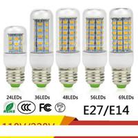 SMD5730 E27 E14 GU10 B22 G9 LED 램프 7W 12W 15W 18W 20W 220V 110V 360 각도 SMD LED 전구 주도 옥수수 빛