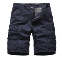 Pantaloncini da uomo Cargo Uomo Summer Woukout Mens Tattico Zipper Zipper multi-tasca Casual Pantaloni corti Brevi Abbigliamento maschile Abbigliamento fitness