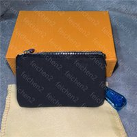 Key Pouch Coin Purses Damier leather holds fashion classical...