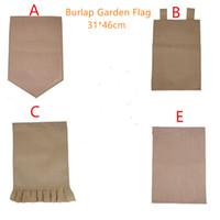 Burlap сад Флаг 31 * 46см Хэллоуин DIY белье Yard висячие Флаг Украшение дома Переносные Banner 5 Стили