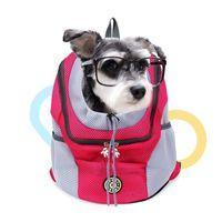 Tragbare Haustier Hund Katze Rucksack Atmungsaktive Reise Kordelzug Tasche Hundeträger Ferienhaus Reisetaschen Drop Ship