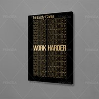 Home Decoration Work Harder Painting Inspirational Quote Wal...