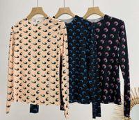 20SS Loog Sleeve Marine-Serre grundiert T-Shirt Frauen-Qualitäts-Overlapping Halbmond Enge Spitze T Shirts Marine-Serre-Mädchen-T-Shirt