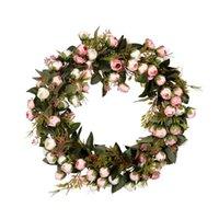 Fleur de Noël Couronne Rose Garland élégante meilleure pour la maison mur de portes et fenêtres Décoration de mariage Décoration