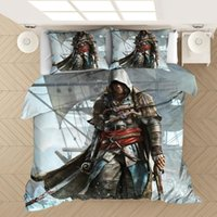 Assassin 's Creed 3D Stampato Bedding Set Copripiumini Federe Comforter Bedding Biancheria Lenzuola (foglio NO)