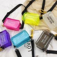 Laser Crossbody Bag For Women doce cor Letter Moda Selvagem Mini Messenger Bag Ombro PVC Jelly Bolsa Pequena 2020