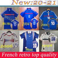 TOP 2002 1996 2000 1998 2006 Francia Retro Kids Camiseta de fútbol Jersey 2004 Trézéguet Zidane Henry Maillot de Foot Ribery Djorkeeff Camicia