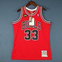 Cheap 100% costurado Scottie Pippen Mitchell Ness CHI 98 Finals Jersey Tamanho jerseys XS-5XL Top Basquetebol