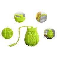 Tee-Silicon Owl lose Teebeutel Eule geformte Teeblatt Infuser Food Grade Infusers Netter StrainerTeaspoon Filter Teaware Werkzeuge LJJA1104