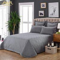3-Stück / Set 100% Coon Massiv gesteppte Bettdecke Set Grau Qualitätsbettlaken Cover-Sets Pillowcase 245 * 260cm Hot Verkauf ROMORUS 7zE8 #
