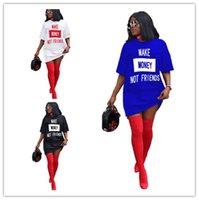 2020 Frauen arbeitet Kleid Designer-T-Shirt losen T-Kleider über Knie Röcke Strand beiläufig langen T-Shirt Top Tee Minikleider Kleidung LY7281