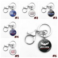 Donald Trump 2020 Keychain Pendant Make America Great Again Commemorative Coin USA President Badge Keychain Rings Party Favor CCA12380