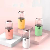 De carga USB humidificador pulverizador de mano macarrón Nano vapor de la cara Crema hidratante Cuidado de la Piel de vapor Humidificador hidratante spray frío 7bn B2