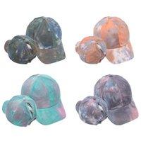 Snapback Golf Yıkanmış at kuyruğu Beyzbol şapkası Kadınlar Spor Şapka Moda Batik Cap Koşu Dağınık Bun Şapka Casual Yaz Caps