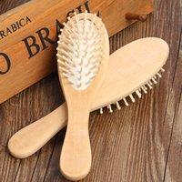 Massage Soins des cheveux peigne en bois massif Antistatic démêlant Airbag Knot Styling Combs multi fonction coiffure brosse salon de coiffure Outils 3 35hs B2