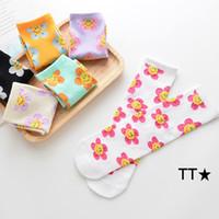 INS Çocuk Kız Prenses Çorap Çocuklar Sonbahar Pamuk Sun Flower Casual Diz Çorap Tide Çorap Moda Ebeveyn-çocuk çorap S288