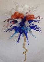 로프트 산업 펜던트 조명 미국의 빈티지 모로코 램프 여러 가지 빛깔의 유리 크리스탈 샹들리에 치 후리 손 유리 샹들리에 풍선
